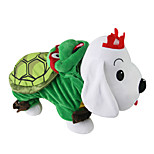 Cat / Dog Costume Green Winter / Spring/Fall Animal Cosplay, Dog Clothes / Dog Clothing