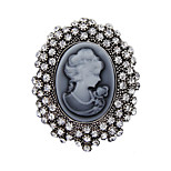 Women's Fashion Crystal Antique Silver Vintage Brooch Pins Jewelry Queen Rhinestone Brooches