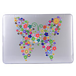 Butterfly Flower Patterned Transparent PVC Hard Shell for MacBook AIR11.6/13.3 Air/13.3 Retina/13.3 Pro