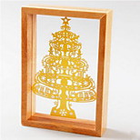 6 Inch Wooden Custom Paper Carving Decorative Pattern Small Wood Frame Manufacturer Christmas