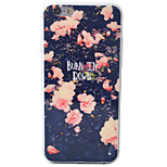 Pink Peony Pattern Material TPU Phone Case For iPhone 6s/6/6s Plus/6 Plus