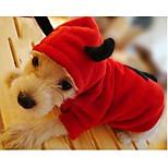 Gatti / Cani Costumi / Completi Rosso Abbigliamento per cani Inverno / Primavera/Autunno Fantasia animale Cosplay