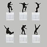 AYA™ Set of 6 DIY Creative Skateboarding Switch Stickers Wall Decor