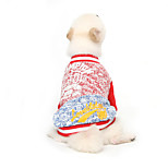 Cat / Dog Sweater Red / Green Winter / Spring/Fall Letter & Number Fashion / Holiday, Dog Clothes / Dog Clothing