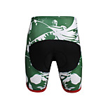 Breathable New Men 's Cycling Shorts Bike TROUSERS With 3 d Pad Lycra  DX656 Green Skeleton
