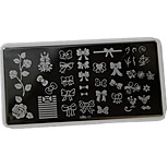 1pcs 12*6CM Nail Art Stamping Plate With High Quality Backplane Design Colorful Image Nail Tools Les Cool11-15