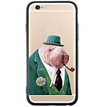 Para Capinha iPhone 6 / Capinha iPhone 6 Plus Anti-poeira / Estampada Capinha Capa Traseira Capinha Animal Macia TPU AppleiPhone 6s