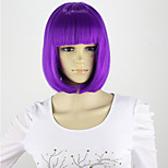 Lila Wig Women's Cheap Synthetic Bob Wig 12inch Short Wigs for Women Female Realistic Cute Wigs with Bangs Hair Cut