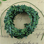 Simulation Diy Wire Wreath Of Green Leaves Plastic Cane 7.5M Diy Manual Wire Wreath Parts And Materials