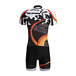 PaladinSport Men 's Cycyling Jersey + Shorts Suit DT653 Sports Field  100% Polyester