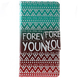 Forever Young Pattern PU Leather Full Body Case with Stand and Card Slot for HTC Desire 626
