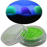 1 Bottle Nail Art Beautiful Noctilucent Powder Colorful Color Glitter Shining Nail Beauty Decoration YG11