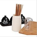 Thick Plastic Drain Chopstick Box with Lid Multifunctional Kitchen Supplies Utensils Storage