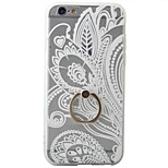 Lazy Bracket Ring Buckle Embossed Frosted Flower Pattern 3D Phone Case for iPhone 6/6S/6 Plus/6S Plus