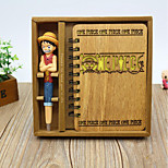 Creative Wooden Wind Notepad Piece Gift Box Exquisite Notebook Diary