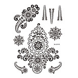 1pc Black Henna Temporary Tattoo Flower Charm Body Art Tattoo Sticker for Woman BM-LS1015