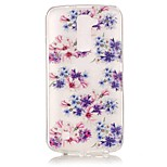 Floral Fit 3D Relief Feeling Super Soft Pack Transparent TPU Phone Case for LG K7/K8/K10