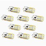 4W G4 LED à Double Broches T 57 SMD 3014 300-450 lm Blanc Chaud / Blanc Froid / Blanc Naturel Décorative / Etanches DC 12 V 10 pièces