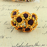 Diy Sun Flower Sunflower Flower Wreath Materials Simulation With Rod Accessories Wedding Candy Boxes