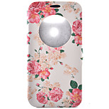 Flower Pattern Pattern Window Clamshell PU Leather Case with Stand and Card Slot for LG G5/G4/G3