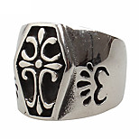 Men's Titanium Steel Ring The Cross Vintage Party / Daily / Casual 1pc Statement Rings