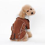 Dog Coat Blue / Brown / Coffee Winter Animal Keep Warm, Dog Clothes / Dog Clothing