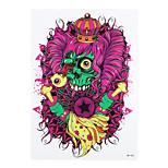 1pc Dangerous Skull Bone Curly Hair Pattern Body Arm Art Temporary Tattoo Sticker for Women Men HB-426
