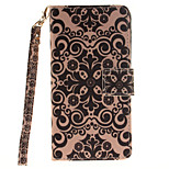 Painted Palace Flower Pattern Card Can Lanyard PU Phone Case For Sony Z2 Z3 Z3mini M4