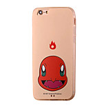 Little Dragon Red Cartoon Pattern PC Material Phone Case for iPhone 5 5S 5E 6 6S 6 Plus 6S Plus