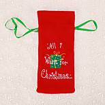 1pc bolso de la botella carta de vinos de mesa de Navidad de regalo cubierta winebottle cena decoración