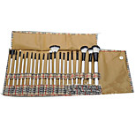 20 Makeup Brushes Set Horse / Synthetic Hair Full Coverage Wood Face ShangYang