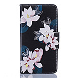 Flower Pattern PU Leather Full Body Case with Stand and Card Slot for Nokia Lumia 650/550