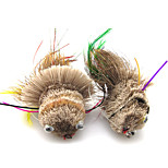 Anmuka Top Quality Dry Fly Lures 6PCS/box Fish Style Colorful Long Tail Deer Hair Feather Fishing Bait