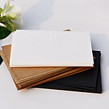 Diy Blank Postcards Cards Greeting Card Line Leather-Made Hand-Over Thick Black Card White Card