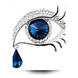 moda suspensión de lágrima largas pestañas de las mujeres grandes ojos partido de cristal de diamantes de imitación de plata regalo de la