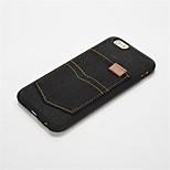 indietro Resistente agli urti / Ultrasottile Tinta unita PC Morbido 休闲时尚牛仔不带卡袋 Copertura di caso per AppleiPhone 6s Plus/6 Plus / iPhone