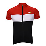 Sports Bike/Cycling Tops Men's Short Sleeve Breathable / Quick Dry / Front Zipper / Back Pocket / Soft /