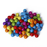 Beadia Assorted Color Acrylic Beads 14mm Plastic Spacer Loose Beads(50g/approx 85pcs)