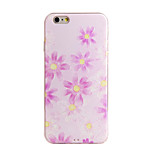 Shockproof / Frosted / Embossed / Pattern Pink Flower TPU Soft  Case Cover For IPhone 6/6s/6plus/6s plus