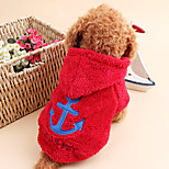 Gatti / Cani Cappottini Rosso / Bianco / Blu / Grigio / Rosa Inverno / Primavera/Autunno Nautico Vacanze