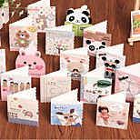Fresh Mini Holiday Cards Korean Cartoon Blessing Small Card Message Card S652