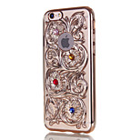 Hollow Embossed Translucent Phone Case for iPhone 6 6S 6 Plus 6S Plus
