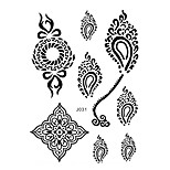 1pc Black Ink Henna Waterproof Tattoo Sexy Woman Body Art Temporary Tattoo Sticker BJ031