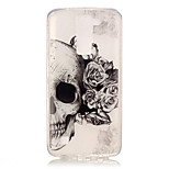 TPU + IMD Material Skull Pattern Painted Relief Phone Case for LG K10/K8/K7/K4