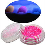 1 Bottle Nail Art Beautiful Noctilucent Powder Colorful Color Glitter Shining Nail Beauty Decoration YG12