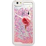 Capa traseira Fluir Quicksand Líquido / Estampa Lady sexy PC Duro Case Capa Para AppleiPhone 6s Plus/6 Plus / iPhone 6s/6 / iPhone