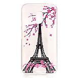Per retro IMD / Trasparente / Goffrato Torre Eiffel TPU Morbido Copertura di caso per Motorola Moto G4 Play
