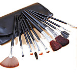 12 Makeup Brushes Set Horse Portable Wood Face ShangYang(Brush Package)