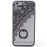 Para Funda iPhone 6 / Funda iPhone 6 Plus con Soporte Funda Cubierta Trasera Funda Flor Dura Policarbonato AppleiPhone 6s Plus/6 Plus /