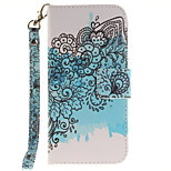 Blue Butterfly Flower PU Leather for iphone7 6splus 6plus 6S 6 SE 5S 5